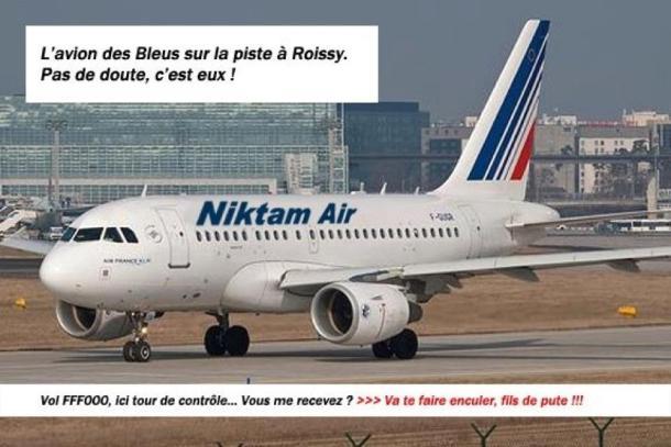 avion des bleus