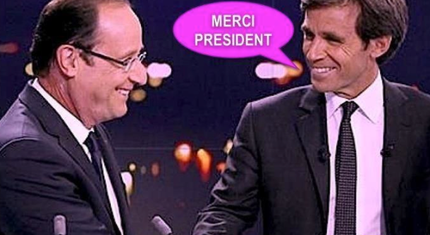 hollande et Pujadas