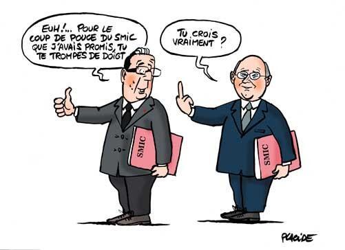 Hollande et le smic