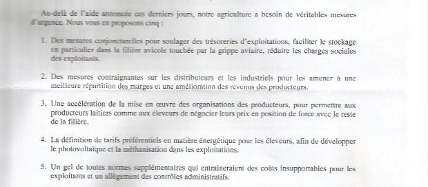 Le Maire lettre 2016