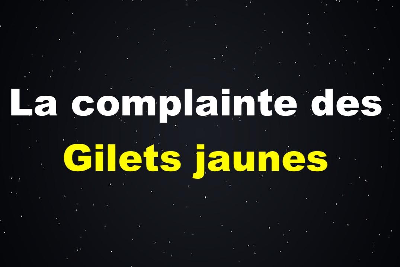 La complainte des Gilets Jaunes