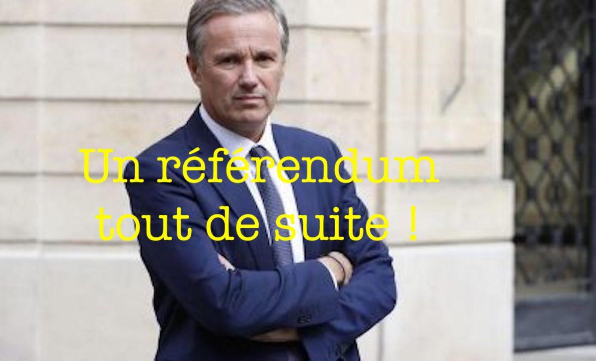 Un référendum tout de suite !
