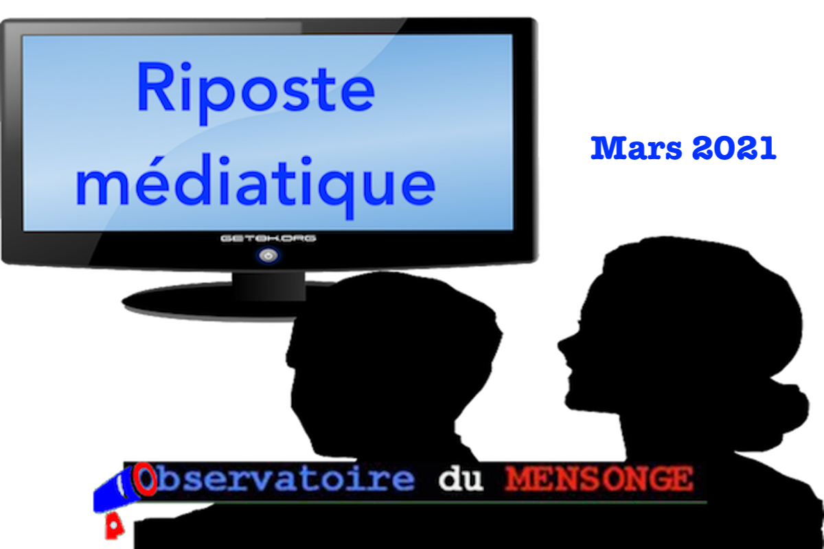 riposte médiatique MARS 2021
